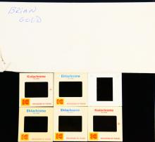 The Beach Boys 1970's NEVER BEFORE SEEN (6) Photo Slides in Envelope W/Milton Love's Typed Notes on Envelope *Includes Never Before Seen Group Photo*