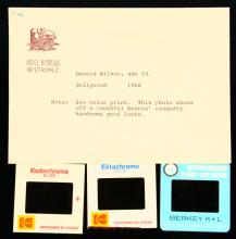The Beach Boys 1968 NEVER BEFORE SEEN (4) Photo Slides in Envelope W/Milton Love's Typed Notes on Envelope *Includes Never Before Seen Group Photo & Concert Shots*