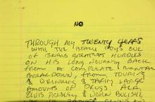 The Beach Boys Brian Wilson Handwritten