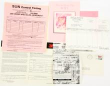 George Jones Personal Invoices & Paperwork From His Lakeland, Florida Home *Some Signed* W/COA