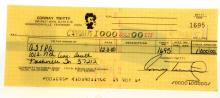 Conway Twitty Personal Signed Check for $1000.00 to AFTRA Dated 12-8-80 From Twitty's Personal Business Account W/COA
