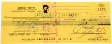 Conway Twitty Personal Signed Check for $3151.40 to Billboard Publications Dated 4-8-82 From Twitty's Personal Business Account W/COA
