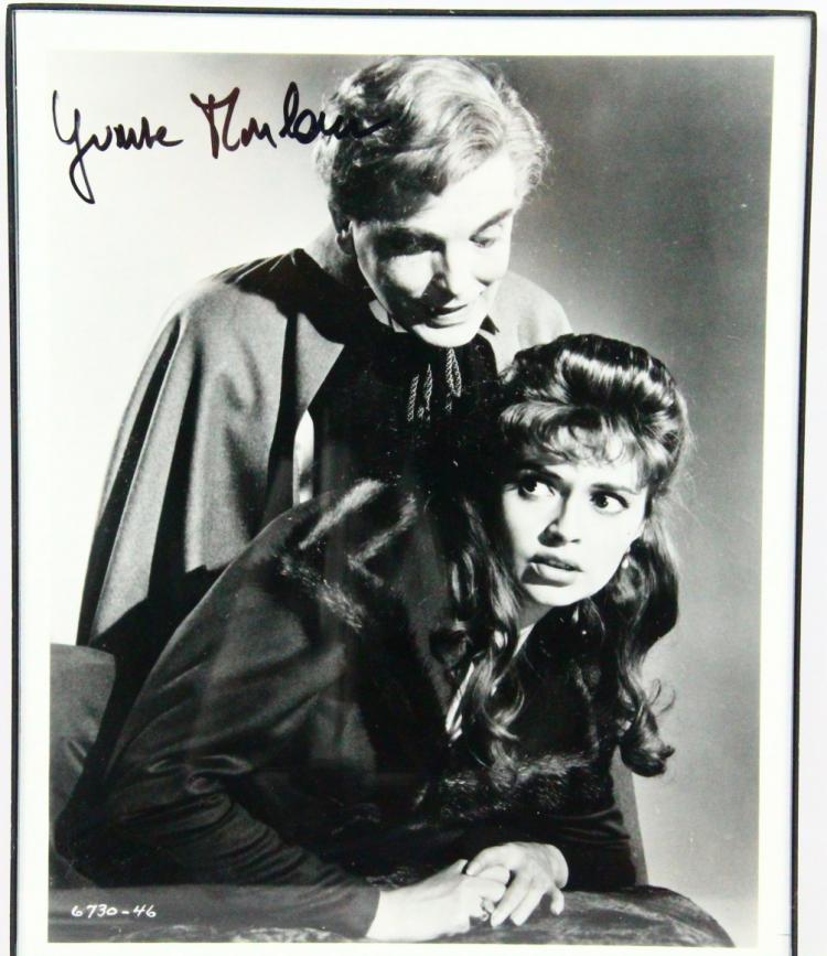 yvonne monlaur autographed framed 8quotx10quot black amp white photo