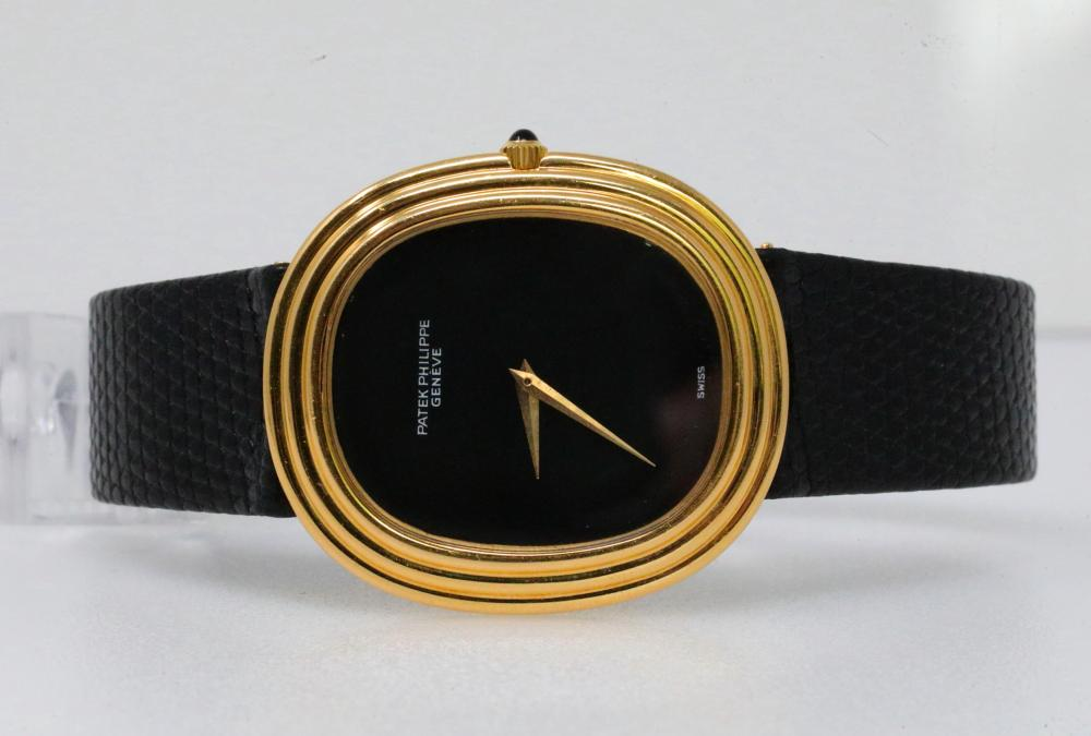 4957a0606fa Patek Philippe 1970's Golden Grande Ellipse Solid 18K Yellow Gold Automatic  Watch (Ref. 3634