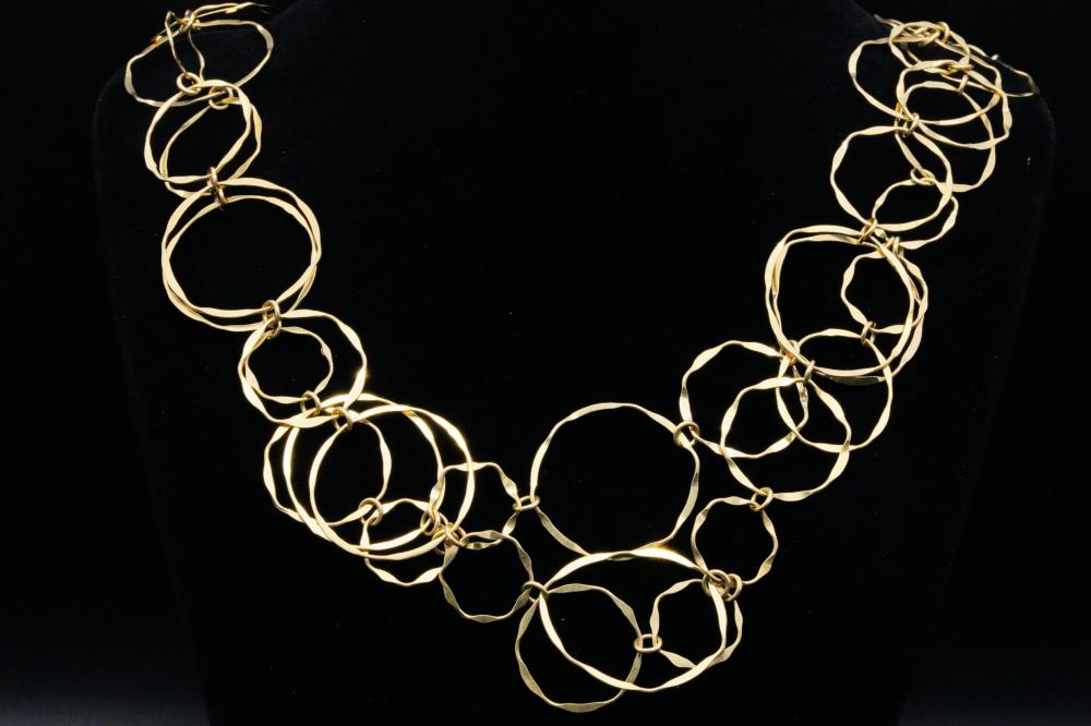 Cartier Vintage 18K Yellow Gold Handmade Loop Chain