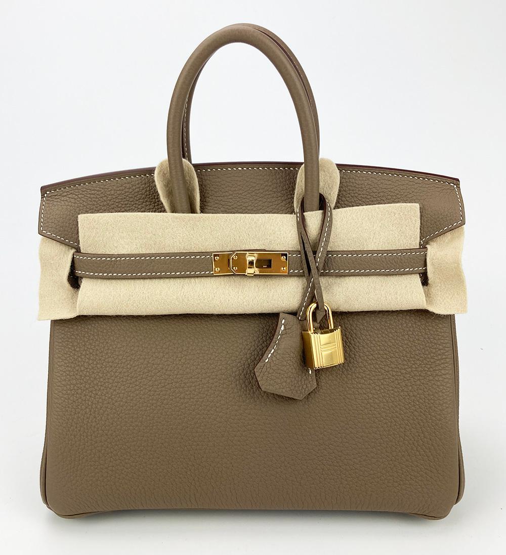 Hermes 2021 Etoupe Togo Leather Birkin 25 GHW