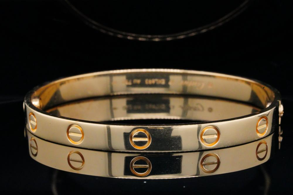 Cartier Solid 18K Yellow Gold Love Bangle