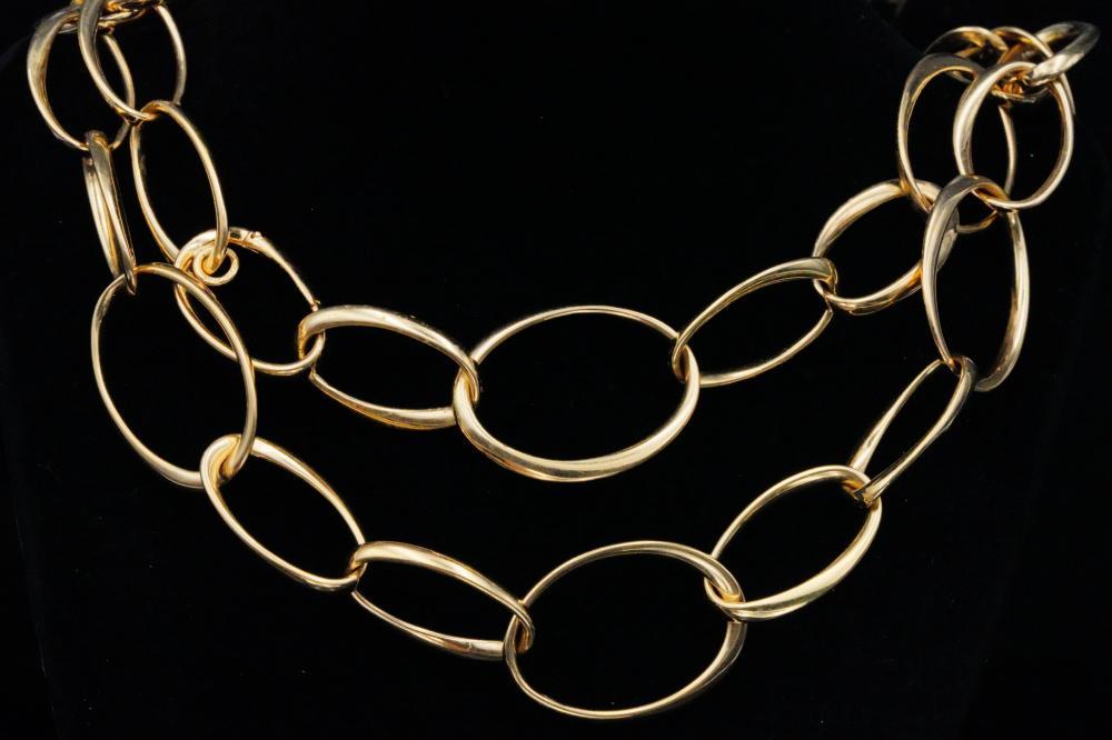 Italian 18K Yellow Gold Convertible Necklace/Bracelet
