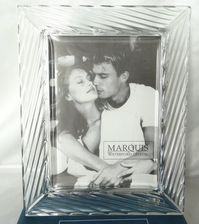 Marquis By Waterford Crystal 5x7 Photo Picture Frame In Original