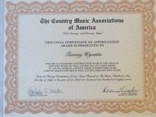 Tammy Wynette Country Music Associations of America