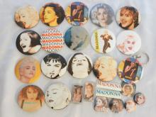 Madonna 26 Miscellaneous Pins & Buttons From Tokyo Show on the Blond Ambition World Tour, 1990 W/COA