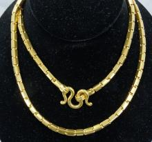 Solid 24K Yellow Gold, Handmade 30