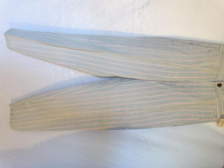Stella Parton Personally Owned Light Blue & Pink Striped Pants Made by Paris Blues W/COA