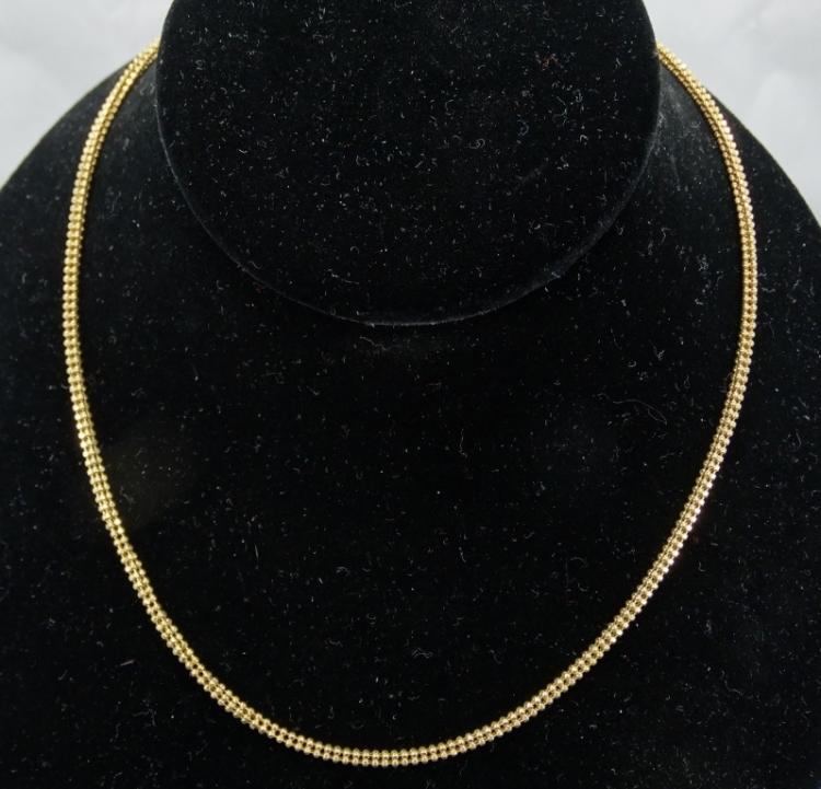 Solid 18K Yellow Gold 20 Inch