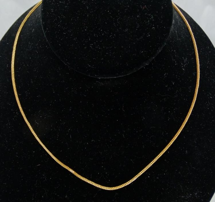 Solid 24K Yellow Gold 24 Inch