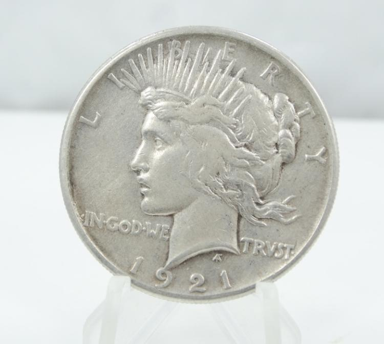 1921-P Peace Dollar High Relief (90% Silver) *Key Date*