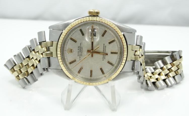 Rolex 1974 Men's 14K/SS Oyster Perpetual Datejust Model: 1601 *Working*