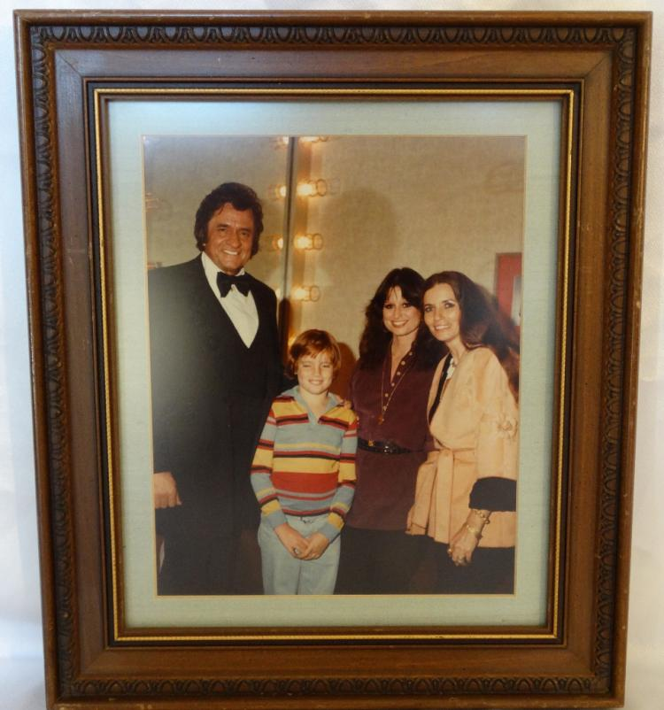 Framed Color Photograph of Johnny, June, John Carter-Cash, & Jessi Colter Aquired From the Home of Waylon Jennings & Jessi Colter