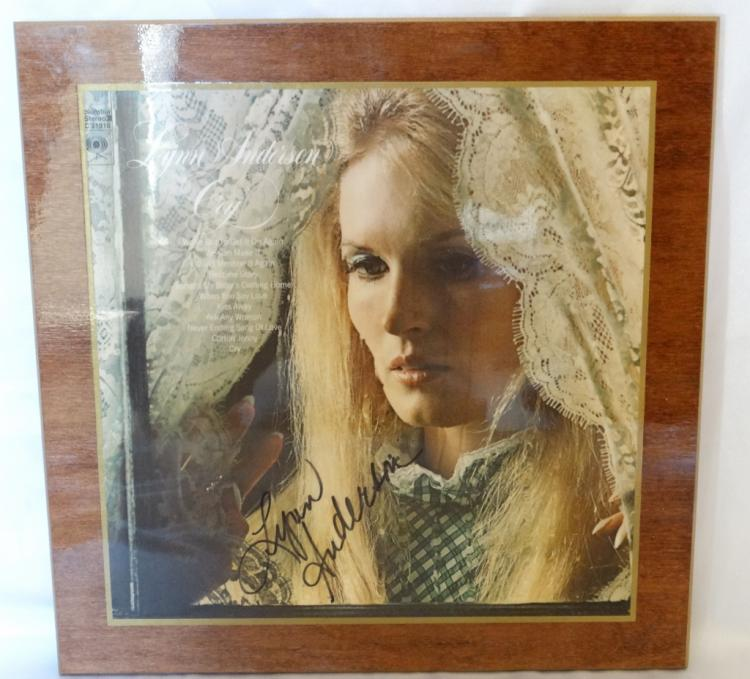 Lynn Anderson Autographed Laminated
