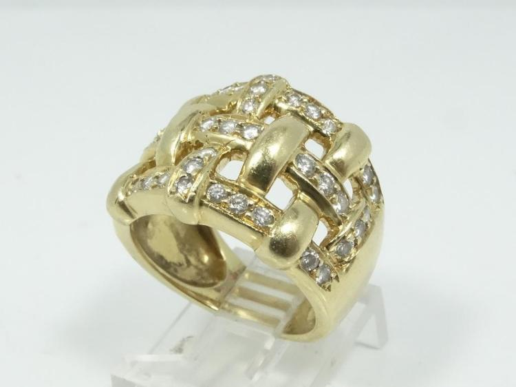 1.00CTW Genuine SI1-SI2/G-H Diamond & Solid 18K Yellow Gold