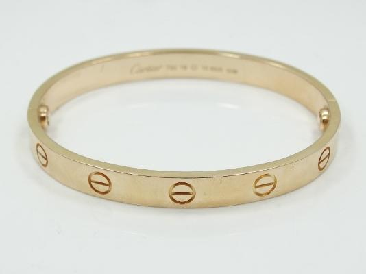 Authentic Cartier Solid 18K Yellow Gold Love Bangle Bracelet Size: 16 GUARANTEED AUTHENTIC (29.4 Grams)