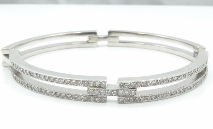 1.90CTW Genuine Diamond & SOLID 14K White Gold