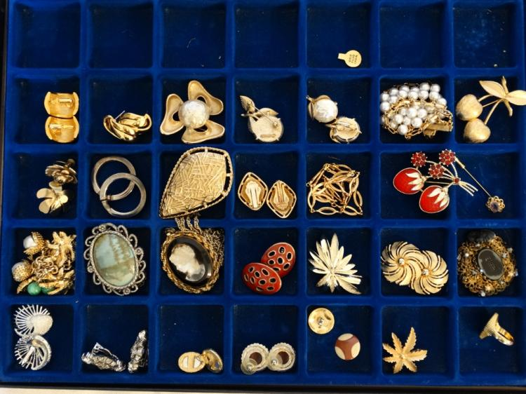 Huge Mixed Lot of Unsearched Costume Jewelry From a Private Estate in Nice Storage Display