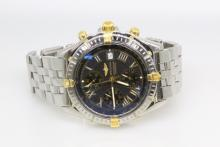 Breitling 1884 Chronometre Crosswind Stainless Steel & 18K Yellow Gold Men's Watch *Like New*