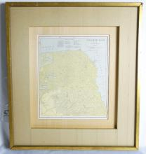 Late 1800s People's Publishing Co. Colored Engraved Map of San Francisco *RARE*