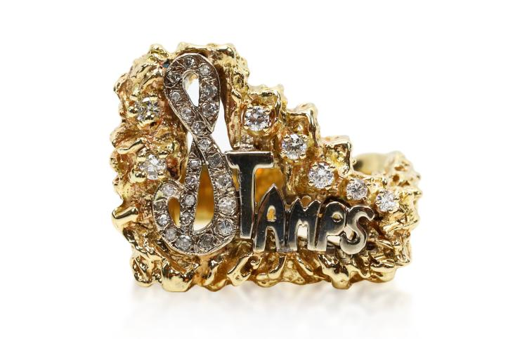 Elvis Presley 0.50ctw Diamond Solid 14K Yellow Gold & Platinum