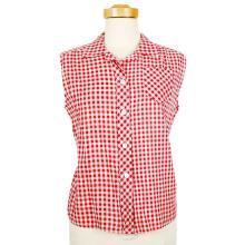Anna Nicole Smith's Vintage Red & White Checkered Shirt Worn for Face Magazine Photo Shoot W/COA