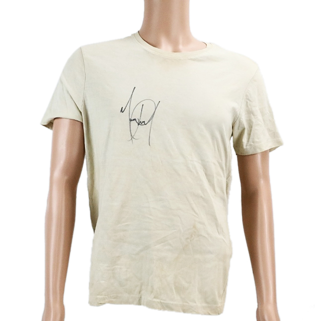 Michael Jackson's Personally Owned & Signed Under T-Shirt Worn on Dangerous Tour July 30, 1992 W/Letter of Provenance & (2) Tour Access Passes