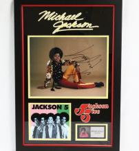 Michael Jackson Jackson 5 Signed Photograph in Framed Presentation W/COA