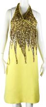 Janet Jackson's Yellow Performance Dress Worn During Performances With Jackson Family in the 1970s W/Previous Auction Card