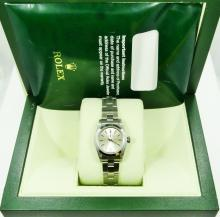 Rolex Stainless Steel Oyster Perpetual Ladies Watch in Original Box W/Papers *Working*