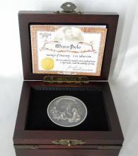 2015 Niue 2 Oz. Silver $5 Marco Polo High Relief Coin in Original Box W/COA (Only 2000 Minted!)