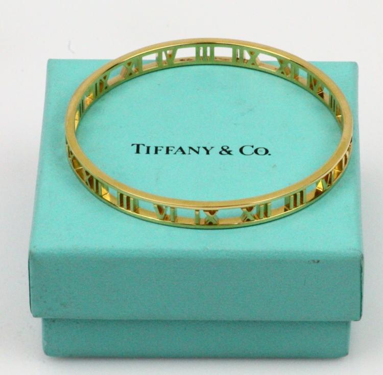 tiffany co italy solid 18k yellow gold 7mm wide atlas ban