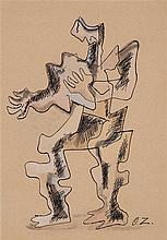 ZADKINE Ossip,  1890-1967 [FR]. - Personnage stylisé,