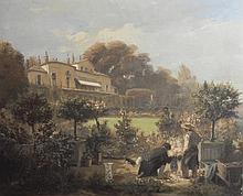 "GIRAUD Sébastien Charles, 1819-1892 [FR]. ""Château de Villgenis"", 1853,"
