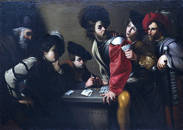 MANFREDI Bartolomeo (suiveur de), école FRANÇAISE du XVIIème siècle [F