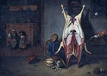 RAVESTEYN Hubert van, Dordrecht 1638 - 1691 [NL]. Intérieur de cuisine