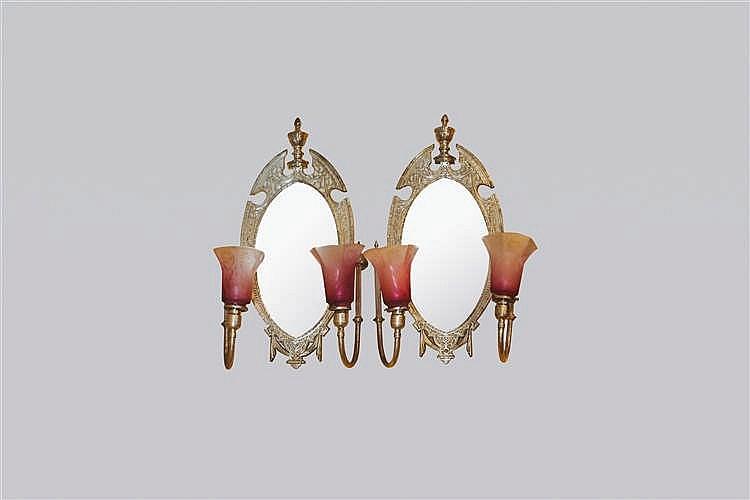 Paire de miroirs en applique new york circa 1910 for Miroir new york