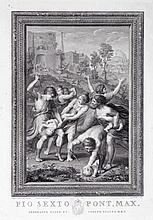 RAPHAËL, Raffaello Sanzio (d'après), gravé par CAMPANELLA Angelo, 1746-1811 [IT]. Paire de gravures représentant Le Christ chez Emmaüs et le Massacre des Innocents, deuxième moitié XVIIIe siècle,