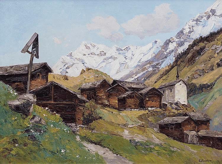 BREHM Emil, 1880-1954 [DE]. Blatten, Lötschental,