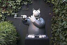 "GELUK (GELUCK) Philippe, *1954 [BE]. ""Flûte à bec"", GELUK (GELUCK) Philippe, *1954 [BE]."