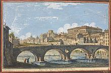 VASI Giuseppe,  1710-1782 [IT]. Lot de deux gravures aquarellées intitulées