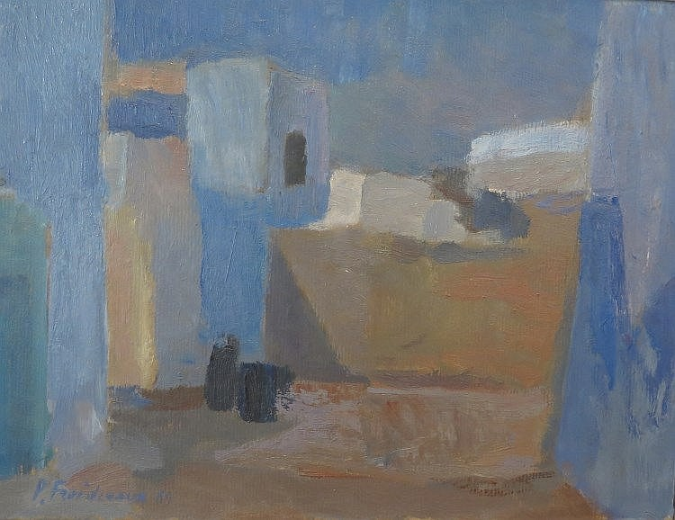 FROIDEVAUX Paul Roger,  1918-1998 [CH]. Vue sur une ruelle, (19)69,
