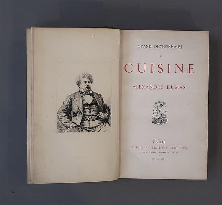 Dumas alexandre 1802 1870 fr grand dictionnaire de cuisi - Dictionnaire de cuisine alexandre dumas ...