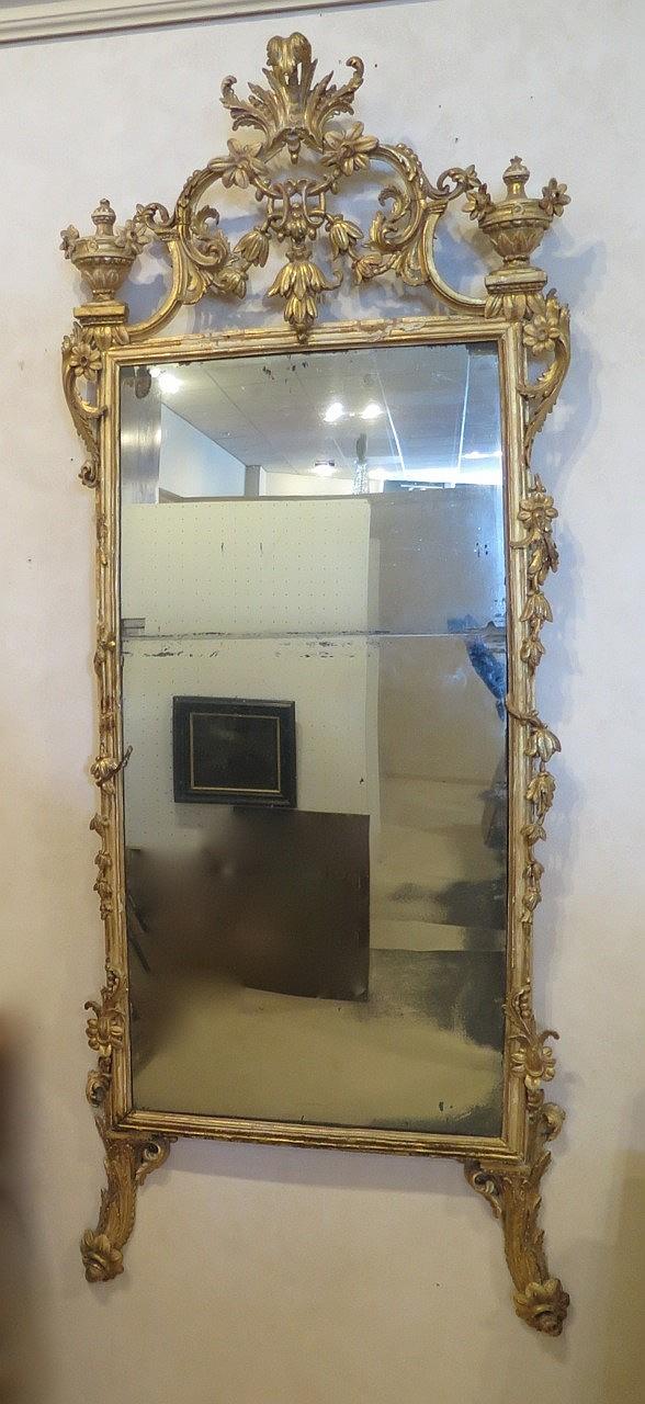 Grand miroir poque r gence xviiie s haut environ 200 cm for Grand miroir dore