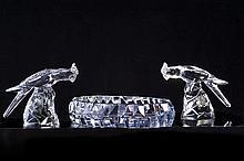 CHEVALIER Georges,  1894-1987 [FR]. Surtout de table, Cristallerie de Baccarat, circa 1930.